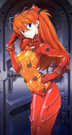 Asuka Shikinami Langley the test suit <3 Neon Genesis Evangelion Rebuild