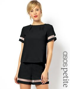 Top exclusive to the ASOS PETITE collection Made from a breathable woven fabricCrew neckline, pleat detailSheer sleeve trimZip backRegular fitABOUT ASOS PETITEASOS PETITE brings forth a trend-led collection specifically designed to fit women of 5'3/1.60m and under. Adapting directional designs, key pieces and best-sellers from our mainline range, the collection also features an exclusive range of styles especially created for our petite customers with carefully considered cuts and shapes. E…