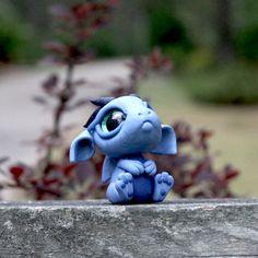 Blaue Bitty Drachenbaby von BittyBiteyOnes auf Etsy