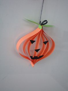 Difficulty :Easy Age years old and up Description: Halloween is coming soon. Let's do a simple Halloween pumpkin tanglung to decorat. Halloween Decorations For Kids, Halloween Arts And Crafts, Halloween Crafts For Toddlers, Halloween Crafts For Kids, Halloween Activities, Halloween Diy, Pumpkin Crafts, Paper Pumpkin, Fall Paper Crafts