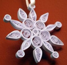 Quilled Snowflake - 3 by Elenatgeezer, via Flickr
