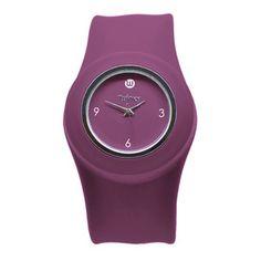 Plum Purple Slap Watch