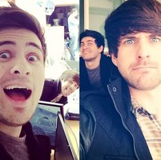 Anthony and Ian from Smosh......... I'm proud to say I'm in love with these 2 idiots.