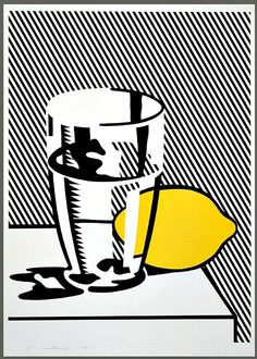 """Roy Lichtenstein, Still Life "" Roy Lichtenstein Pop Art, John Singer Sargent, E Tattoo, Wassily Kandinsky, Dale Chihuly, Rembrandt, Vincent Van Gogh, Industrial Paintings, Pop Art Images"