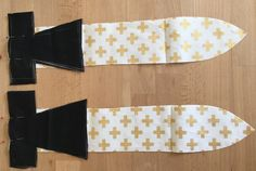 Handmade soft sword sewing project for boys