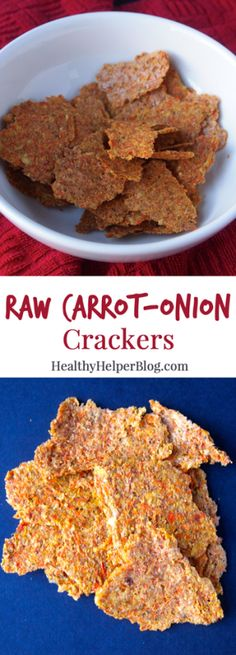 Raw Carrot Onion Crackers • Healthy Helper