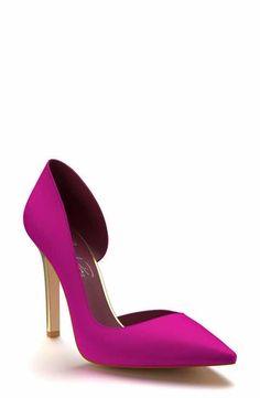 6796d4f5e2f Shoes of Prey Pointy Toe Half d Orsay Pump (Women) Stiletto Pumps