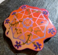 Spring geometry brooch
