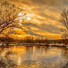 'Golden River' by Garvin Hunter Photography River Thames, Landscape Art, Art Prints, Sunset, Photography, Outdoor, Art Impressions, Outdoors, Photograph