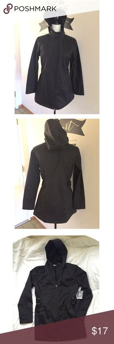 Black Water Resistant Jacket NWT Black Water Resistant Jacket   Brand: Free Tech    Size: Medium   Hand warmer pockets, 2 way zipper, zipper chin guard Free Tech Jackets & Coats Utility Jackets