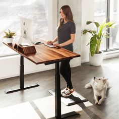 Sit Stand Desk custom made, Simply select the base design, the top and edge detail of the timber top and lastly, Manual or slifting mechanisms. Best Standing Desk, Standing Desk Height, Electric Standing Desk, Standing Table, Standing Desks, Home Office Setup, Home Office Desks, Best Office Desk, Small Office