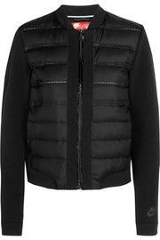 Aeroloft quilted shell and jersey down jacket