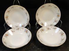 Noritake Legendary Secret Love Berry Bowls 3481 5 Set of 4 Excellent Vintage Dinnerware, White Plates, Secret Love, Dessert Bowls, Vintage Dishes, Noritake, 2 Set, Decorating Your Home, Berry
