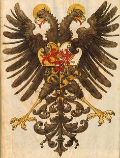 Kaiser Friedrich III (f°VIIr) -- Wappenbuch, [S.l.] Süddeutschland, 1. Hälfte 16. Jh. [BSB-Hss Cod.icon. 392 d].
