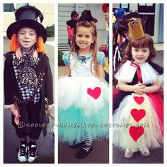 Coolest Tim Burton's Alice in Wonderland Kids Group Costumes ...This website is the Pinterest of costumes