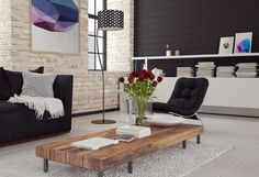 3d Modern living room interior