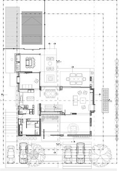 Image 21 of 31 from gallery of Carol House / Estudio LAK. New House Plans, House Floor Plans, Architecture Drawing Plan, Arch House, Internal Courtyard, Floor Layout, Concrete Structure, Exterior Cladding, House Layouts