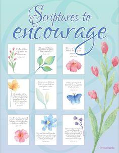 Scripture to Encourage You - Free Printable