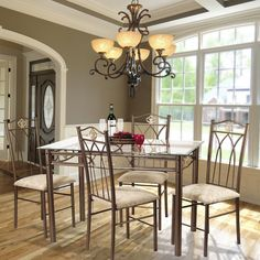 Hazelwood Home 5 Piece Dinette Set Gl Dining Room Sets Kitchen Tables