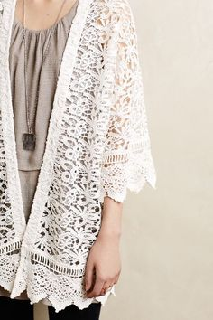 delina lace cardigan / anthropologie