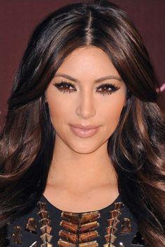 Black Hair Dark Brown Highlights Black hair with brown