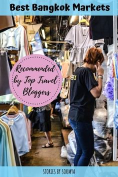 The Best Markets To Visit In Bangkok | Stories by Soumya #bangkok #bangkokmarkets #thailand #markets #floatingmarket #nightmarket #people #culture Bangkok Market, Bangkok Travel, Thailand Travel, Asia Travel, Japan Travel, Bangkok Trip, Laos Travel, Beach Travel, Visit Thailand