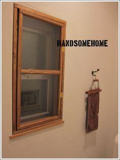 DIYで内窓作り。 : ハンサムに暮らす。 Diy Interior, Kitchen Accessories, Ideal Home, Diy Furniture, Diy And Crafts, Kids Room, House Design, Windows, Mirror