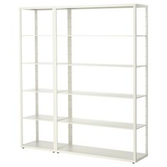 IKEA - FJÄLKINGE, Shelving unit, The long, slender shelves give the shelving unit a light and airy look. And the clean, simple lines make it easy to combine with many styles of furniture.The shelving unit is strong and durable because it's made of steel.You can easily change the height according to your storage needs as the shelves are adjustable.