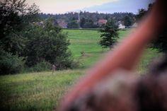 Wer kennt das nicht?! Bei der Pirsch ist das Wild auf der einerseits greifbar nah und auf der anderen Seite unfassbar weit weg. Wie hier  dieser Jährling. Man sieht ihn die ganze Zeit über, er scheint zum greifen nah zu sein, aber im nächsten Augenblick sah er uns und sprang ab.  Somit mussten wir weiter pirschen.  Waidmannsheil euch allen!!! ���� #free #hunt #hunting #jakt #jagd #waidgerecht #wild #gun #passion #outdoor #natur #leidenschaft #waidmannsheil #chasse #forest #green #wood…