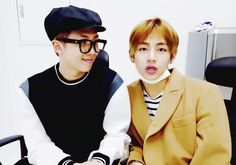 My beautiful boys, I love them a lot #V #Rapmonster - this was such a funny segment