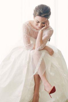 Gorgeous bridal portrait: http://www.stylemepretty.com/florida-weddings/miami-fl/2015/04/21/elegant-toile-inspired-miami-garden-wedding/ | Photography: Katie Lopez - http://katielopezphotography.com/