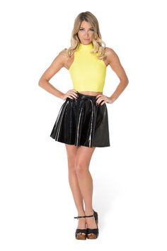 Matte Yellow High Neck Crop by Black Milk Clothing $35AUD ($30USD)