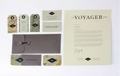 Designer Amber Asay devel­oped the iden­tity and col­lat­eral for The Voyager Shop, a San Francisco lifestyle bou­tique.