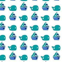 Cotton Quilt Fabric Nursery Seawater Friends Sailing Whales Sailboats - product images of Cotton Quilts, Cotton Fabric, Sailboat Nursery, Boating License, Sailboats, Whales, Green And Purple, Baby Quilts