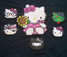 Hello Kitty Perler beads by AesynneZephyrstorm on deviantART