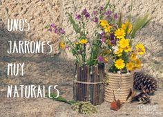 Jarrones DIY de todos los estilos para decorar con flores