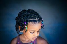 Cornrow and box braid style