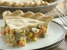 Chicken and Veggie Pot Pie: I make mine from scratch, but this looks great. I'd use low sodium soup.