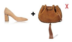 Замшевые сумка и туфли