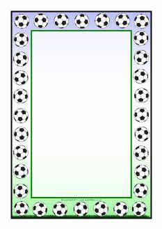 Football A4 page borders (SB5551) - SparkleBox