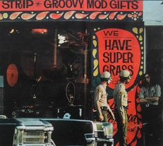 1960s Sunset Strip Head Shop LOS ANGELES CALIFORNIA Vintage Photo Drug Culture COPS and HIPPY