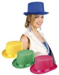 Gala Partisi Şapka Kostüm Aksesuarları - Parti Şapkaları Polyester kumaştan, saten kurdeleli silindir şapka. Beden: 59cm. Stok durumuna göre resimdeki farklı renklerde gelebilir! Özel bir tercihiniz varsa sipariş numaranızla beraber depo@partipaketi.com adresine mail atarak bildiriniz!