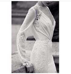 great gatsby inspired vintage long sleeved wedding dresses with pearls wedding dress Long Sleeve Wedding Dresses: Perfect 20 Gowns for Fall and Winter Brides Wedding Dress 2013, Wedding Dress Sleeves, Lace Dress, White Dress, Gown Wedding, 1920s Wedding Dresses, Tomboy Wedding Dress, Wedding Dress With Pearls, Long Sleeved Wedding Dresses