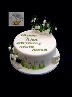 Snowdrops birthday cake