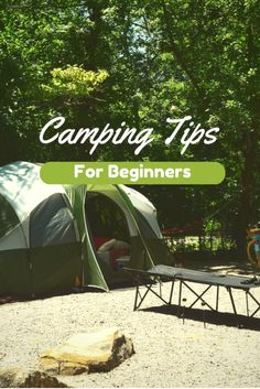 Camping Tips for Beginners - Perfect step by step illustrations to help you pitch a tent, start a fire, and go fishing. Plus there's a great camping check list too