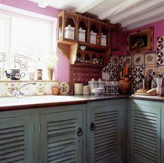 Dishfunctional Designs: The Bohemian Kitchen  cabinet doors