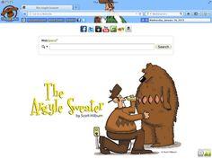 Argyle Sweater Browser Theme for Google Chrome, Mozilla Firefox, Internet Explorer and Safari. - Web Comics Themes
