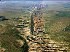 Part of California's San Andreas fault line.