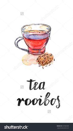 """一杯健康和美味的传统草药红色饮料茶香料、南非博士茶"""",水彩,手绘插图-食品及饮料,自然-海洛创意(HelloRF)-Shutterstock中国独家合作伙伴-正版素材在线交易平台-站酷旗下品牌"""