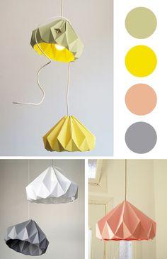 origami lampshade #paper #craft #origami                                                                                                                                                     Mais